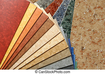 The samples of collection natural linoleum