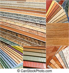The samples of collection linoleum - The samples of ...