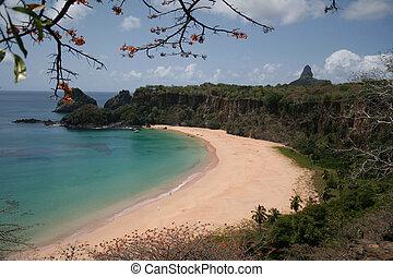 """The """"Sancho Bay"""" in Fernando de Noronha, a paradisiac island off the coast of Brazil."""