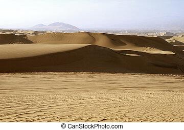 The sand dune of Huacachina desert in Ica Region, Peru, South America