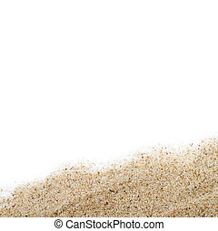 The sand scattering isolated on white background