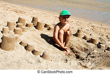 The  sandbox - Game in a sandbox, on a coast of the red sea