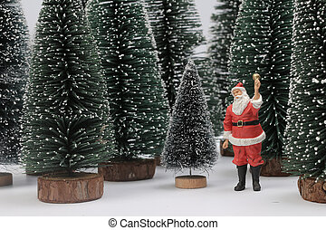 Santa Claus ceramic figure christmas