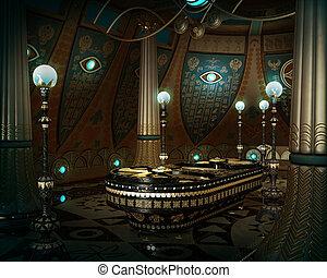 The Sarcophagus Room, 3d CG