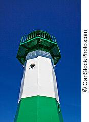 The Sassnitz lighthouse.