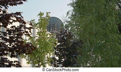 The Satellite Antenna On Building - The satellite antenna on...