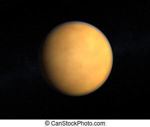 The Saturn Moon Titan - A rendering of the Saturn Moon Titan...