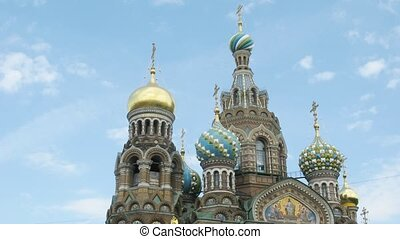 The Saviour on the Spilled Blood Cathedral on sky...