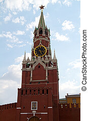 The Saviour (Spasskaya) Tower of Moscow Kremlin, Russia.