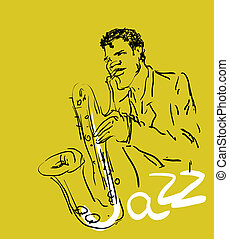 the saxophone player.