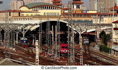 The scene in Beijing Train Station - The scene in Beijing...