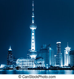 the scene of shanghai china.