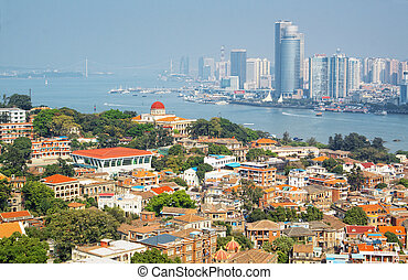 The scenery of Xiamen Gulangyu island
