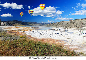 The scenery of Yellowstone National Park