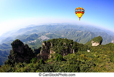 The scenery of Yun-Tai Mountain, a World Geologic Park and AAAAA Scenery Site in China