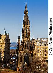 The Scott Monument, Edinburgh, Scotland. - The Scott...