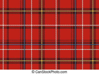The Scottish plaid - illustration of The Scottish plaid....