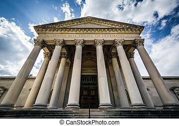 The Scottish Rite Temple of Freemasonry, in Baltimore, Maryland.