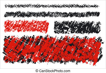 Scratched background - The Scratched background. Black and...