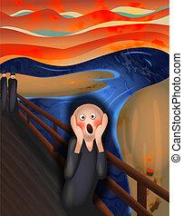 The Scream - Digital parody illustration of The Scream by...