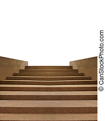 The scree stairs isolated on white background
