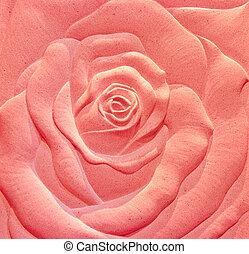 The Sculpture sandstone of rose