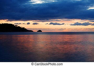 The Sea at sunrise