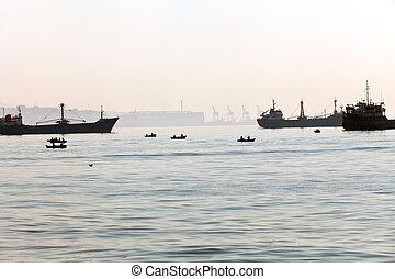 The sea carriage at the Sea Marmara in Turkey