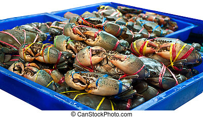 The Sea crab in the market