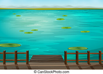 Illustration of a very nice scenery of a sea