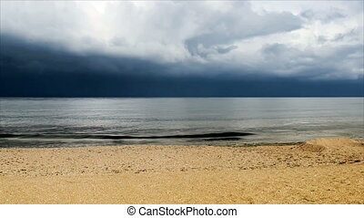 the sea landscape - landscape of the sea at cloudy weather