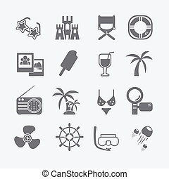 the sea set of icons