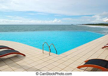 The sea view swimming pool, Bentota, Sri Lanka