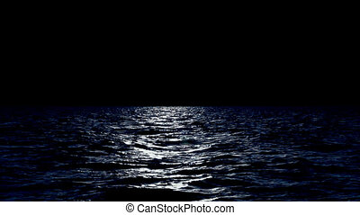 The Sea with Black Background