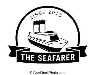The seafarer label badge