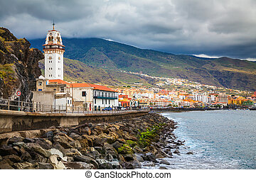 the seafront in a small town Candelaria