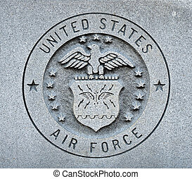 The seal of the United States Air Force engraved into granite