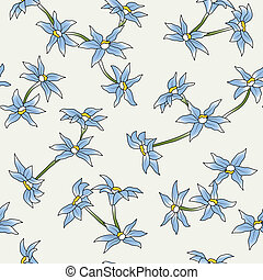 The seamless of a blue flowers