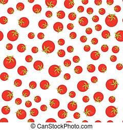 The Seamless pattern. Vegetable set. Red tomatoes