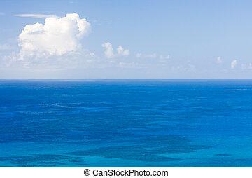 The sea's horizon