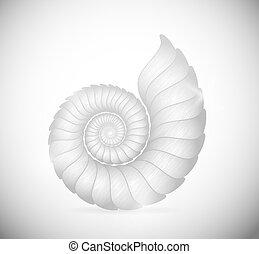 The seashell - Illustration of a sea shell clam. Eps 10