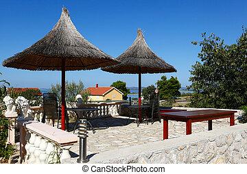 The seaside resort