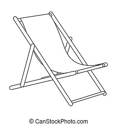 The seat for sunbathing on the beach. Summer rest single icon in outline style bitmap, raster symbol stock illustration.