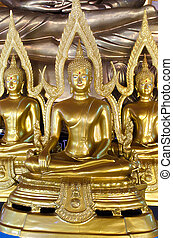 The Seated Buddha Images in Attitude of Subduing Mara with Arch frame.