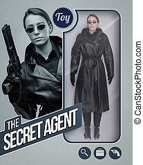 The secret agent lifelike doll