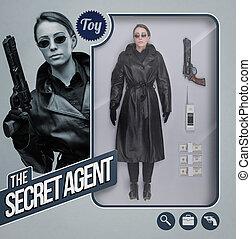 The secret agent lifelike doll