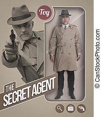 The secret agent realistic doll