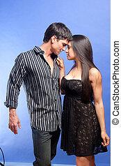 the secret love affair - the cute couple is having a love ...