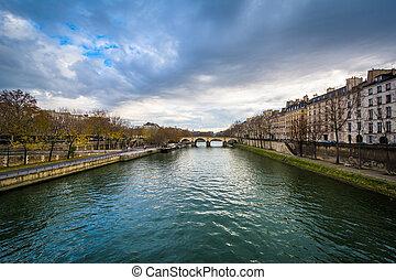 The Seine, in Paris, France.