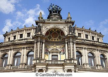 The Semper Opera House in Dresden - A view of the Semper...